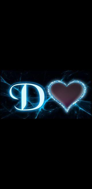 Обои на телефон молния, черные, синие, сердце, буквы, d letter