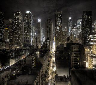 Обои на телефон город, ночь