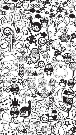 Обои на телефон черные, стена, мультфильмы, крутые, withe, whatsapp wall