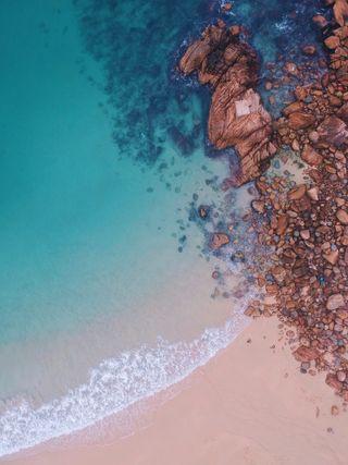 Обои на телефон эпл, черные, пляж, пейзаж, небо, морской берег, море, айфон, iphone, ios, apple wallpapers, apple