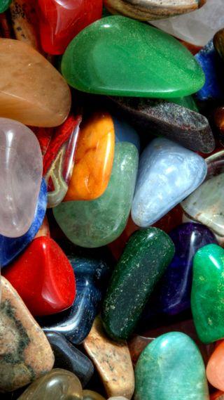 Обои на телефон камни, синие, красые, красочные, зеленые