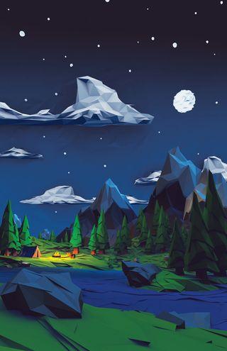 Обои на телефон природа, пейзаж, мультфильмы, зима, горы, аврора, windows, tariq collection