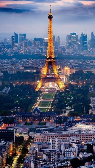 Обои на телефон эйфелева башня, париж, ночь, башня