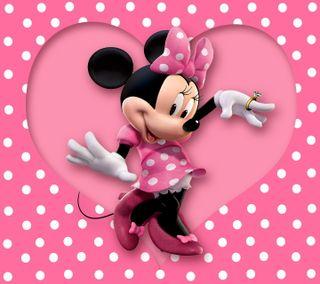 Обои на телефон polka dots, милые, розовые, маус, точки, минни