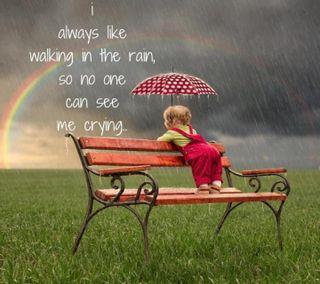 Обои на телефон cry, walk in rain hd, крутые, девушки, высказывания, радуга, одиночество, дождь, мальчик, малыш, эмо, прогулка, рокки