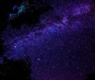 Обои на телефон путь, ночь, небо, млечный, космос, звезды