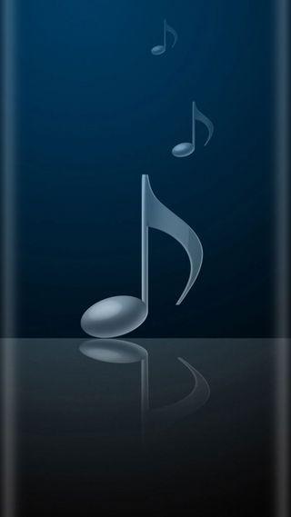Обои на телефон стиль, синие, серые, ноты, музыка, красота, грани, s7, edge style