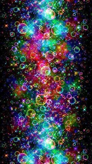 Обои на телефон пузыри, цветные, психоделические, абстрактные