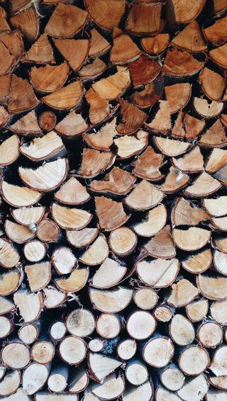 Обои на телефон текстуры, шаблон, природа, натуральные, дерево, stack, firewood