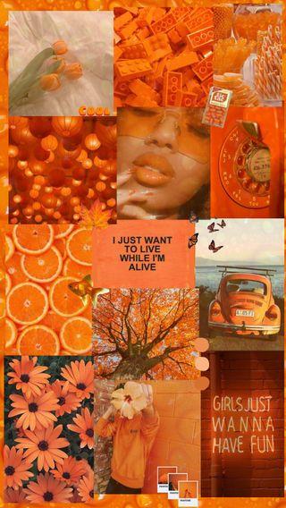 Обои на телефон монтаж, изображения, эстетические, оранжевые, крутые