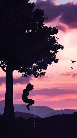 Обои на телефон сакура, саске, природа, одиночество, наруто, какаши, итачи, дерево, аниме, акацуки