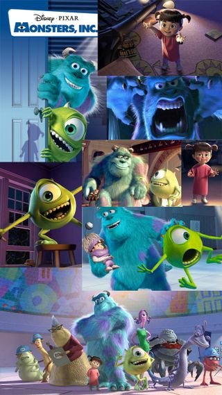 Обои на телефон анимация, фиолетовые, мультфильмы, мультики, монстры, майк, бу, sully, monster, inc