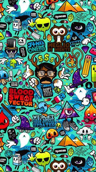 Обои на телефон граффити, арт, art