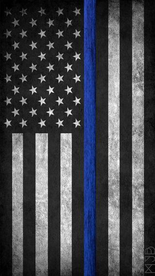 Обои на телефон полиция, синие, линии, закон, thin blue line, law enforcement