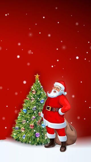 Обои на телефон санта, рождество, праздник, красые