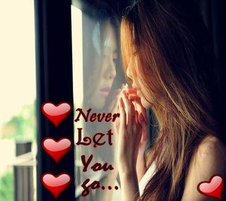 Обои на телефон эмо, ты, сердце, одиночество, никогда, любовь, девушки, высказывания, love, let, go