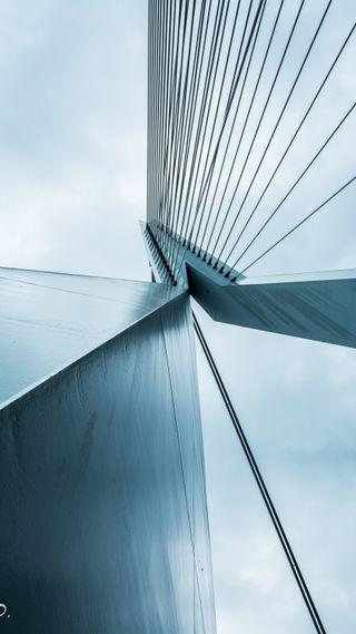Обои на телефон архитектура, стальные, серые, серебряные, мост, металл, линии, абстрактные, structure