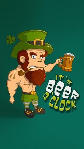 Обои на телефон ирландские, часы, фан, праздник, пиво, ирландия, зеленые, вечеринка, везучий, beer o clock