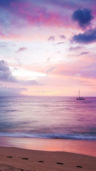 Обои на телефон море, мечтательные, лодки, dreamy-sea-boat