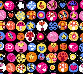 Обои на телефон иконки, дети, шаблон, абстрактные, children icons