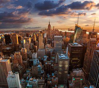 Обои на телефон новый, небоскребы, место, йорк, здания, город, горизонт, skyline, metropolis