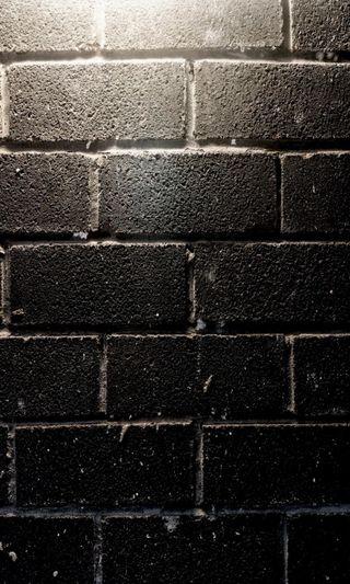 Обои на телефон кирпичи, черные, фон, стена, black bricks wall, black brick wall