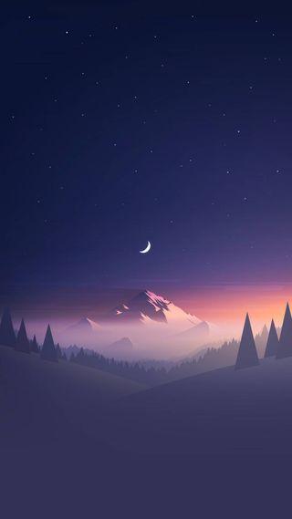 Обои на телефон рок, ночь, небо, музыка, горы, land