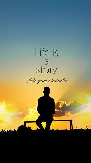 Обои на телефон life is a story, make yours a bestseller, bestseller, жизнь, история, делать