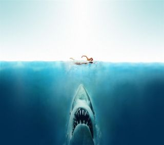 Обои на телефон глубокие, фильмы, океан, арт, jaws