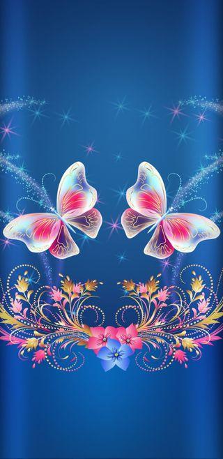 Обои на телефон история, цветы, синие, симпатичные, сверкающие, розовые, прекрасные, бабочки, untoldbutterflystory