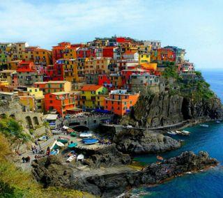 Обои на телефон рокки, природа, новый, море, милые, крутые, классные, италия, дом, город, вода, city of italy hd, 2012