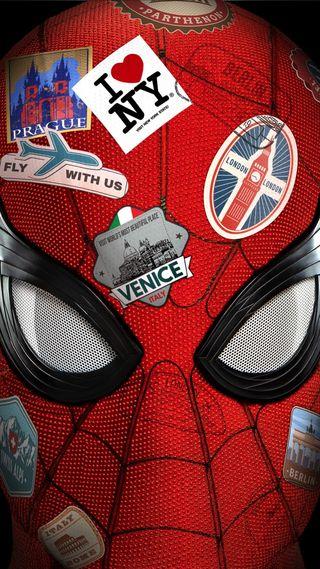 Обои на телефон фильмы, паук, от, дом, далеко, spider-man far  home, spider man, spider-man far from home