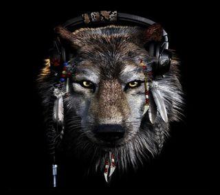Обои на телефон диджей, волк, dj wolf