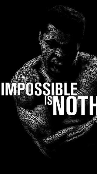 Обои на телефон ничего, невозможно, мухаммед, али, power, motivationa