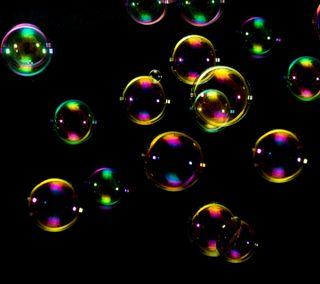 Обои на телефон пузыри, черные, радуга, soap