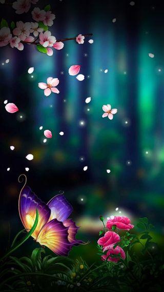 Обои на телефон сезон, бабочки, природа, прекрасные, песни, деревья