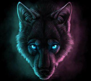 Обои на телефон темные, волк