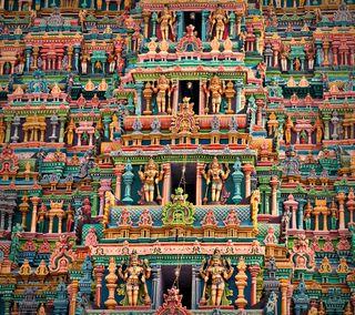 Обои на телефон храм, статуя, святыня, индия, индийские, здания, india qhd