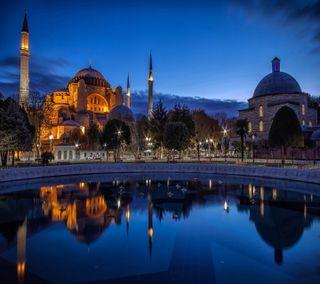 Обои на телефон стамбул, синие, ночь, мечеть, sultanahmet, istanbul night, istanbul gece, blue mosque