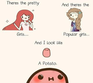 Обои на телефон популярные, симпатичные, девушки, potato