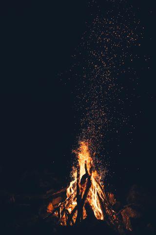 Обои на телефон релаксация, огонь, ночь, небо, лагерь, лава, золотые, вулкан, night fire, camp fire