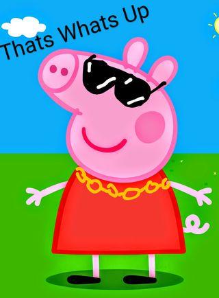 Обои на телефон свинья, мем, peppa