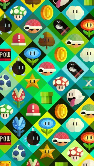 Обои на телефон цветы, призрак, марио, иконки, звезда, грибы, братья, up, icons mario bros, ghost