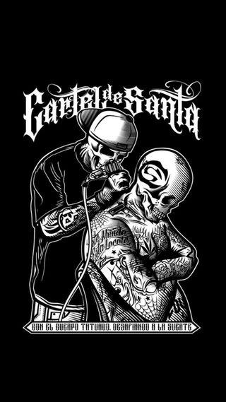 Обои на телефон банда, череп, тату, мотоциклы, кровь, военные, бок, байкер, арт, армия, west side, art