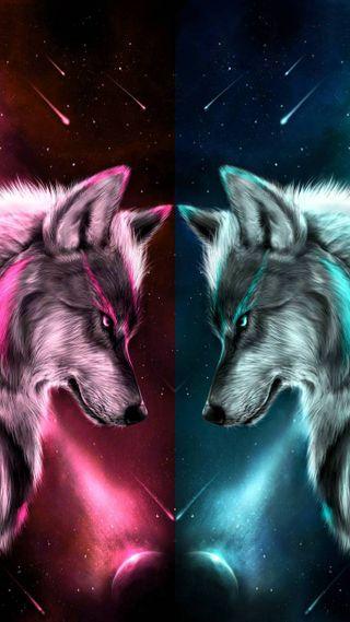 Обои на телефон волк, hf hik