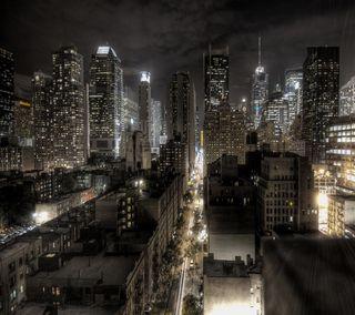 Обои на телефон нью йорк, городские, ночь, новый, небоскребы, йорк, город, ny, city at night