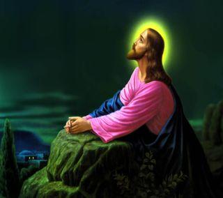 Обои на телефон христос, исус, praying
