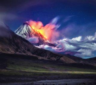 Обои на телефон россия, вулкан, kamchatka