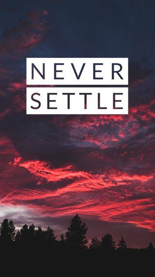 Обои на телефон решить, никогда, небо, кастом, selfmade, neversettle, never settle 1