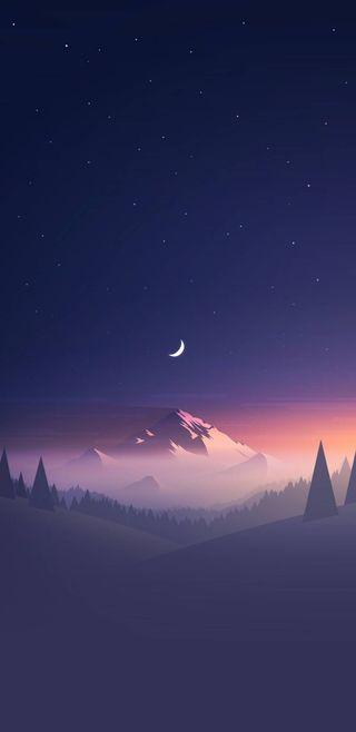 Обои на телефон рок, ночь, небо, горы